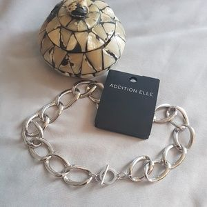 Silver Large Link Chain Necklace